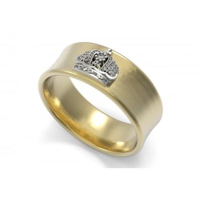 Восковка кольцо с короной 10291