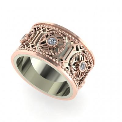 Восковка кольцо с узором 10292