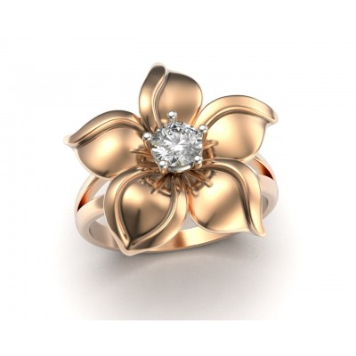 Восковка кольцо цветок 10414