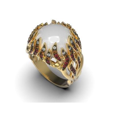 Восковка комплект кольцо серьги 8419
