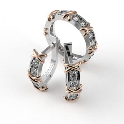 Восковка комплект Cartier кольцо серьги 8439