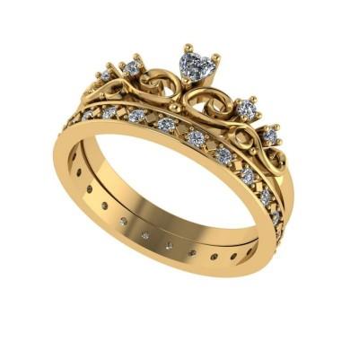 Восковка кольцо корона 9271