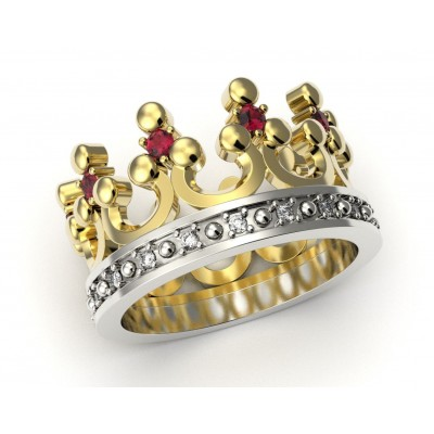 Восковка кольцо корона 9412