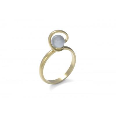 Восковка кольцо с жемчугом 9442