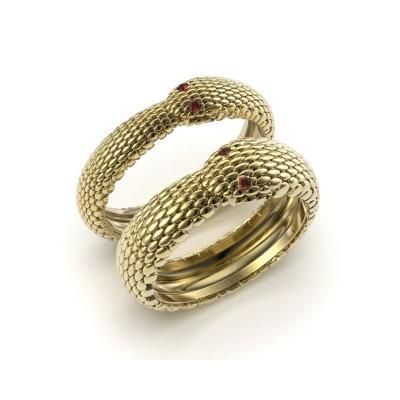 Восковка кольцо змея 9461