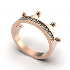 Восковка кольцо корона 9504