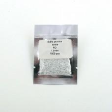 Цирконий круг 1.5 мм - 1000 штук. Белый.