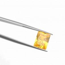 Багет Цирконий Золотистый Цитрин 10 х 12 мм