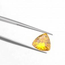 Триллион Цирконий Золотистый Цитрин 10 х 10 мм