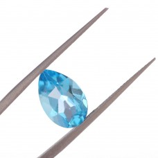 Капля Топаз London Blue 12X8 мм