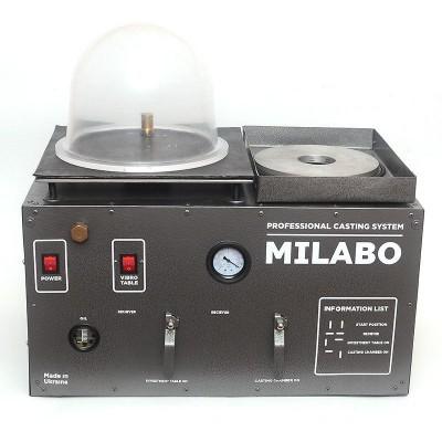 Вакуумная установка для литья золота, серебра, бронзы, латуни Milabo