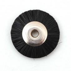 Щетка волосяная жесткая черная б/д d- 19 mm
