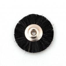 Щетка волосяная жесткая черная б/д d- 22 mm