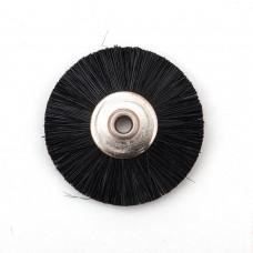 Щетка волосяная жесткая черная б/д d- 25 mm