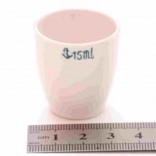 Тигель фарфоровый 15 ml D 30 mm x H 34 mm