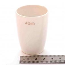 Тигель фарфоровый 40 ml D 38 mm x H 55 mm