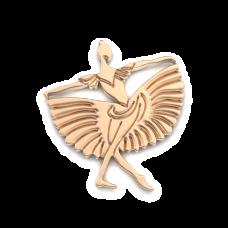 Восковка кулон Балерина И12028