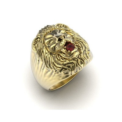 Восковка кольцо лев И10077